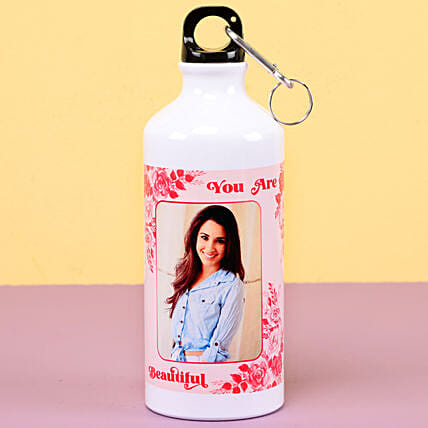 Photo printed water bottle for womens day:Women's Day Gift For Mom