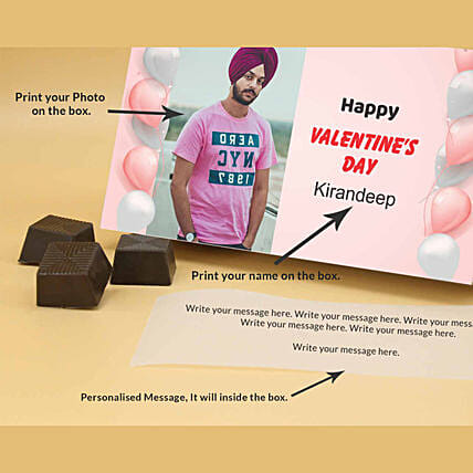Online Personalized Almond Chocolates For Him
