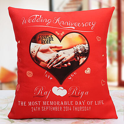 Another Milestone Personalized Cushion:Personalised Cushions, Anniversary