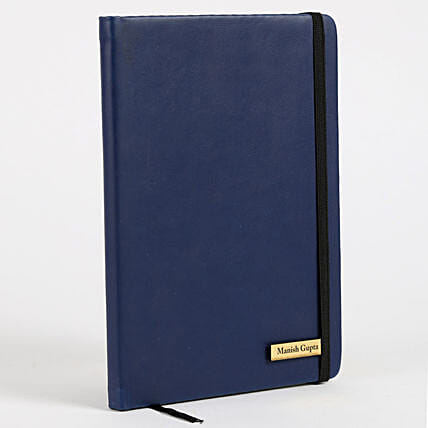 Buy Blue Custom Diary:Buy Personalised Stationery Set