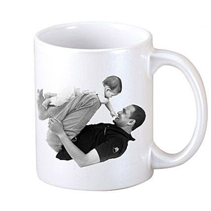 Personalized Coffee Mug-White Coffee Mug,dad with a picture of your choice