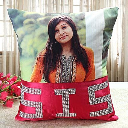 Personalized cushion for sis:Personalised Cushions for Bhai Dooj