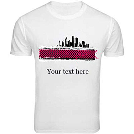 Personalized Funky T-shirt-white T-shirt with personal text