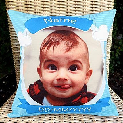 customised photo cushion gift:Send Gifts for Newborn