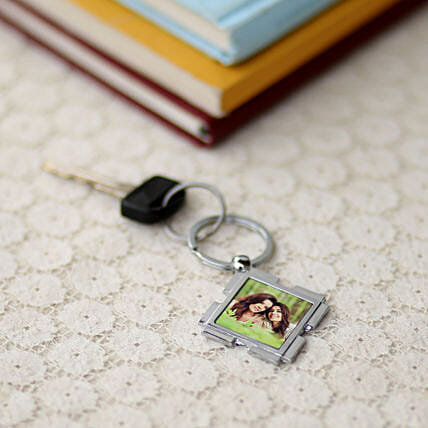 Happy Mom Personalized Keychain-1 diamond shaped personalized mom keychain