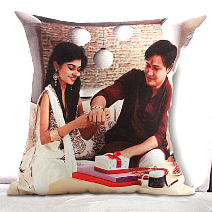 Personalized rakhi cushion
