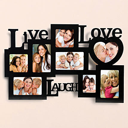 Lovable Frames-Live love laugh wall 24x15 personalized photo frame:Personalized Photo Frames
