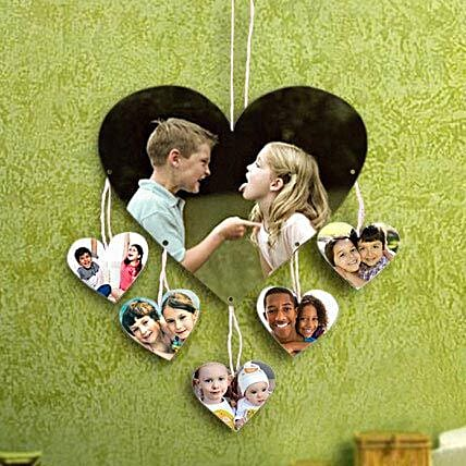 Personalized hanging heart shaped photo frame:Photo Frame