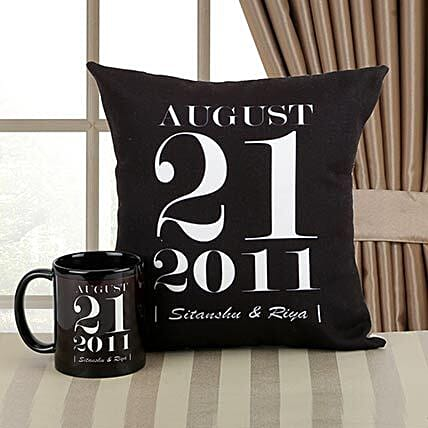 Personalized Combo gifts:Cushions and Mugs Combo