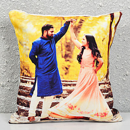 Personalized Picture Cushion:Personalised Gifts Machilipatnam