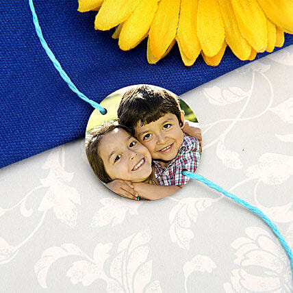 Personalized Perfect Rakhi with roli Chawal:Rakhi Delivery in Ahmedabad