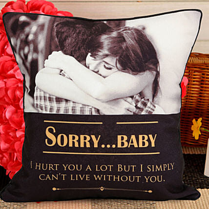 Personalised sorry quote cushion:Sorry Gift