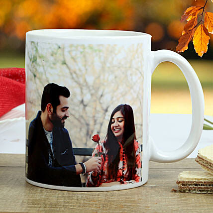 The special couple Mug-printed on white ceramic coffee mug:Send Personalised Mugs to Pune