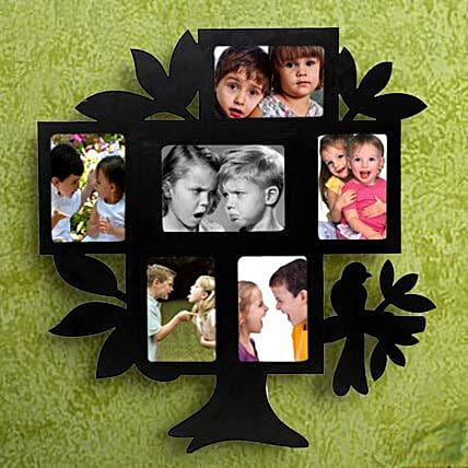 Personalized tree shaped photo frame
