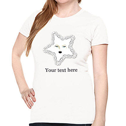 Personally Shine with Star T-shirt-white T-shirt with personal text for girls