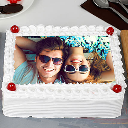 Pineapple Personalised Photo Cake