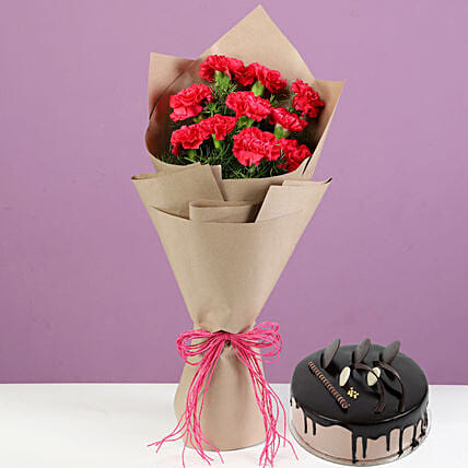 Exclusive Flower Bouquet and Cake Online