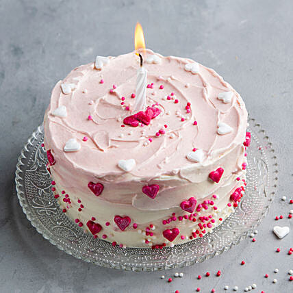 pink heart chocolate cake online