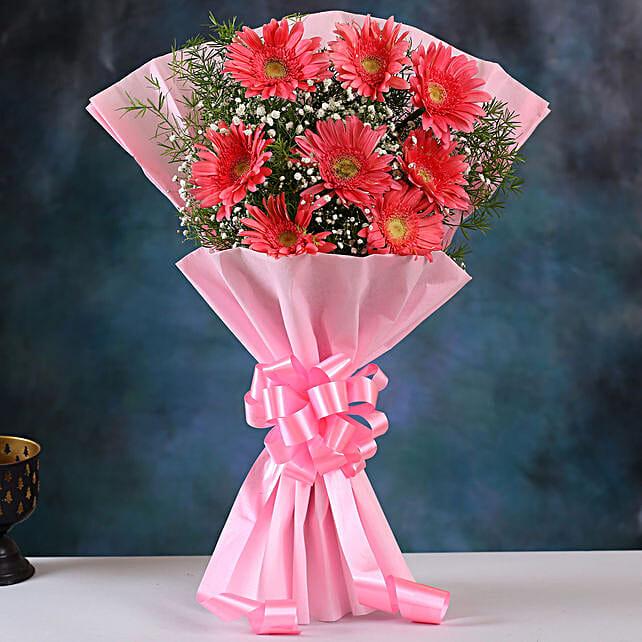 Pink Marvel Gerbera Blossoms