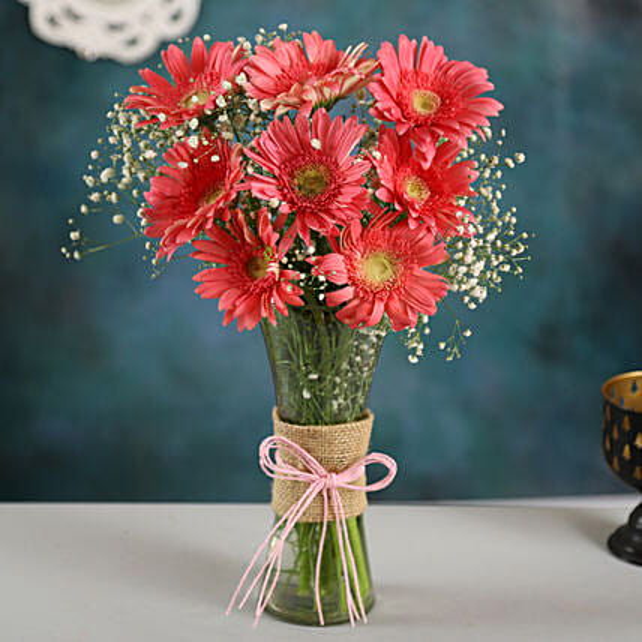Pink Marvel Gerbera Vase