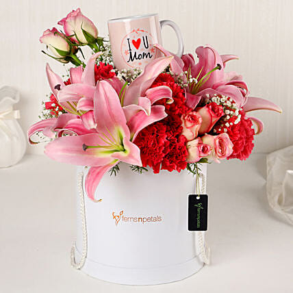 Online Pink Perfection Floral Arrangement