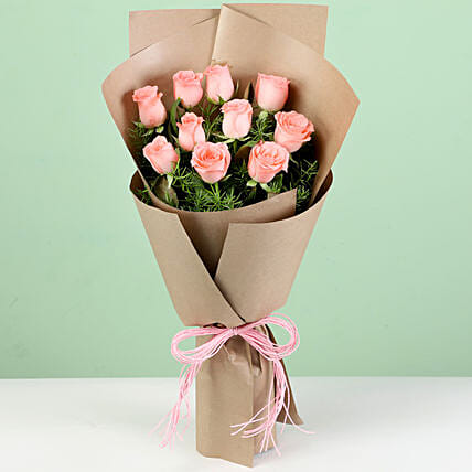 Online Pink Rose Bouquet