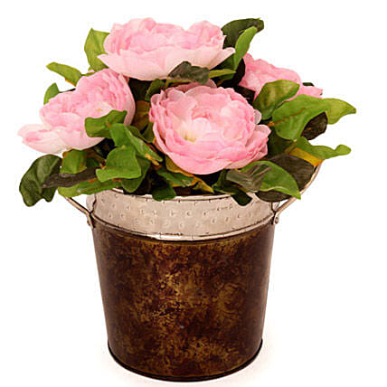Pink Roses-Pink artificial roses arrangement:Artificial Plant