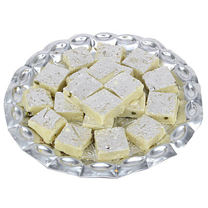 Pista Burfi In Silver Tray-500 grams