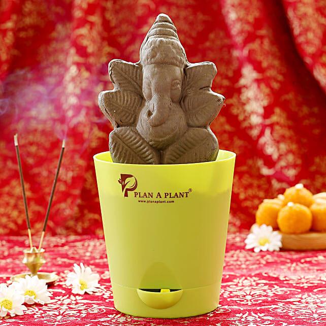 Ganesha clay ido plantable online:Ganesh Chaturthi Gifts