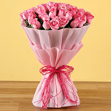 Exclusive Pink Flower Bouquet:Wedding Gifts