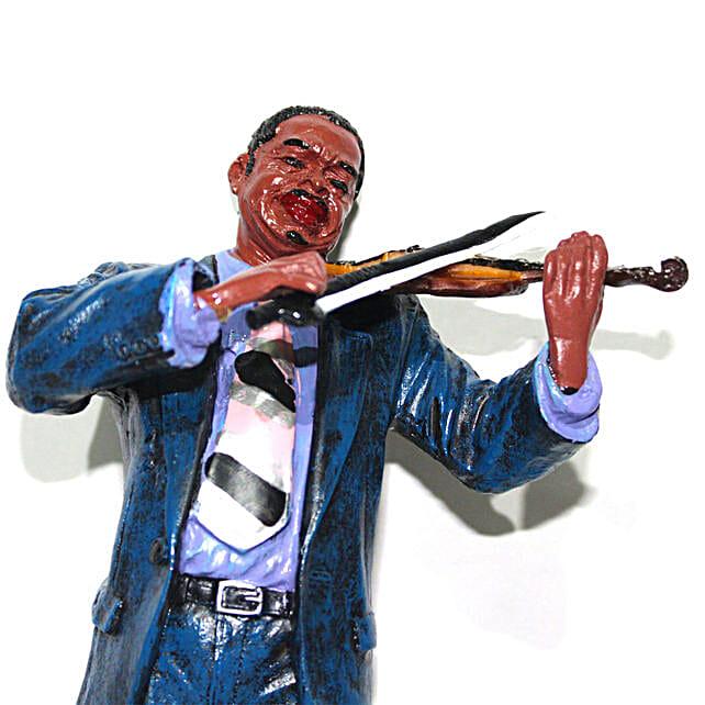 Polyresin Musician Showpiece Violinist