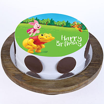 Online Pooh & Piglet Photo Cake For Kids