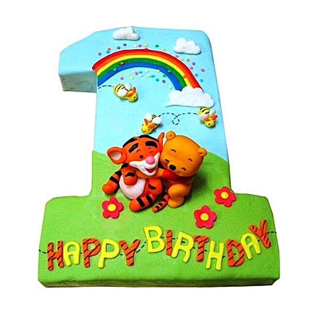 Pooh Tigger Cake 2kg Vanilla Eggless