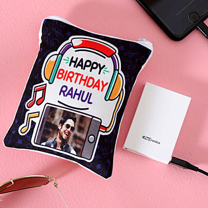 personalised pouch for power bank online:Personalised Gadgets