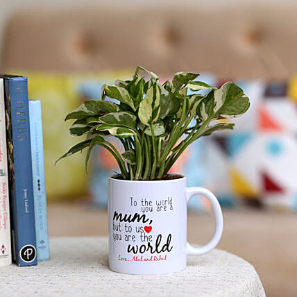 happy mothers day plant n printed mug