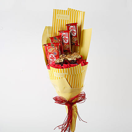 sweet chocolate in bouquet