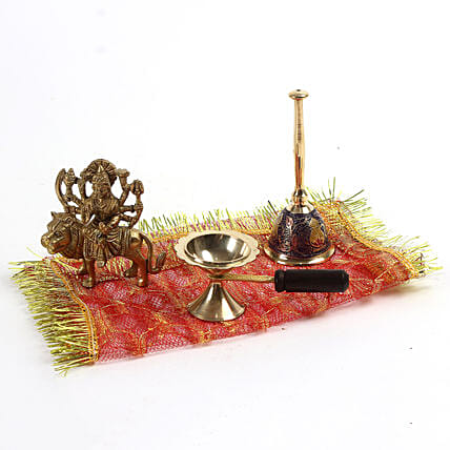 complete set of navratri brass idol