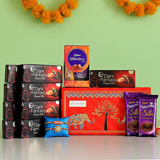 Online Rakhi with Chocolate Box