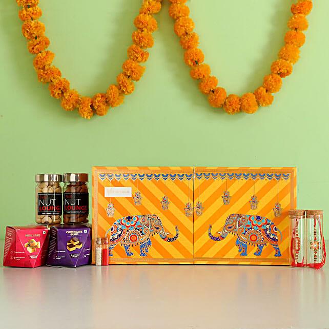 Capsule Rakhi with Sweets Box Online