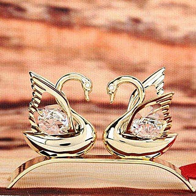 Swarovski golden swan