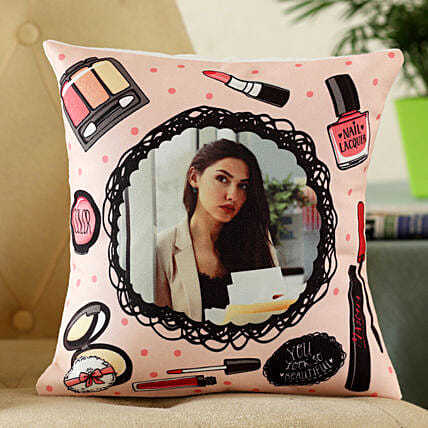 customised photo cushion for her