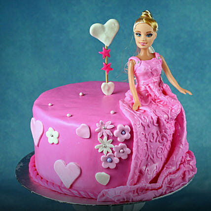 Barbie Doll Cake for Kids - Chocolate:Designer Cakes