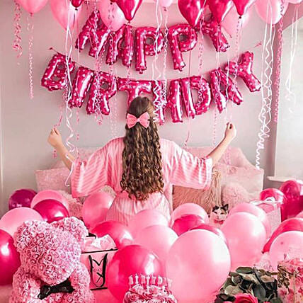 Princess Birthday Surprise:Balloon Decorations