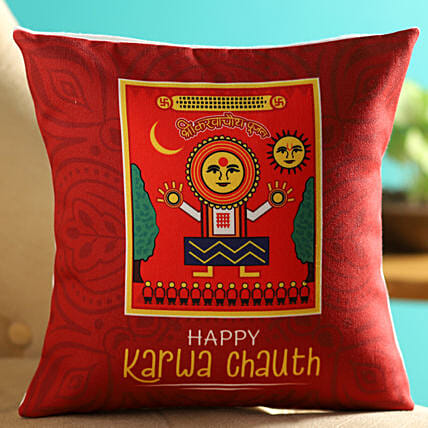 personalised led cushion for karwa chauth online:Karwa Chauth Gifts For Saas