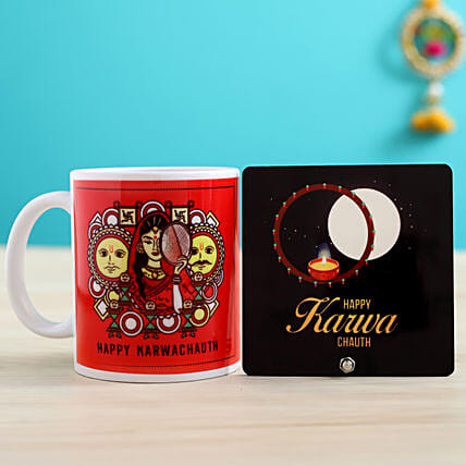 online personalised karwa chauth item for husband