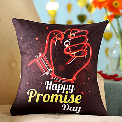 Printed Promise Day Cushion For Same Day