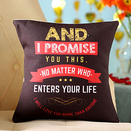 Promise Quote Printed Cushion Online