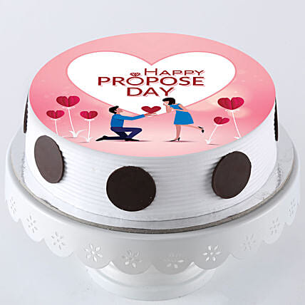 happy propose day photo cake online