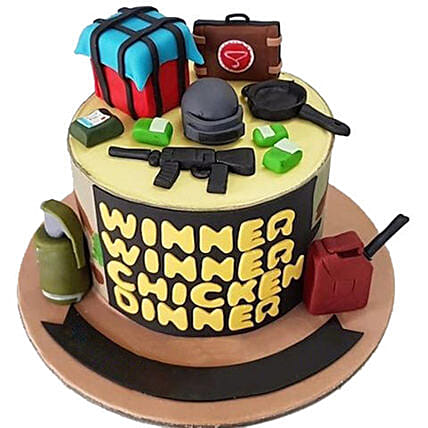 Online PUBG Chicken Dinner Cake