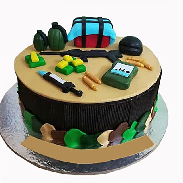 Pubg Theme Chocolate Truffle Cake 2 Kg Gift Online Pubg Theme Cake